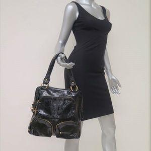 Tod's T-Bag Media Tote Black Patent